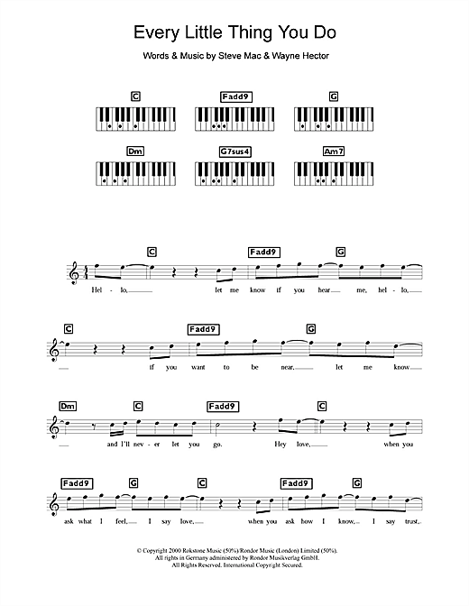 Every Little Thing You Do Sheet Music
