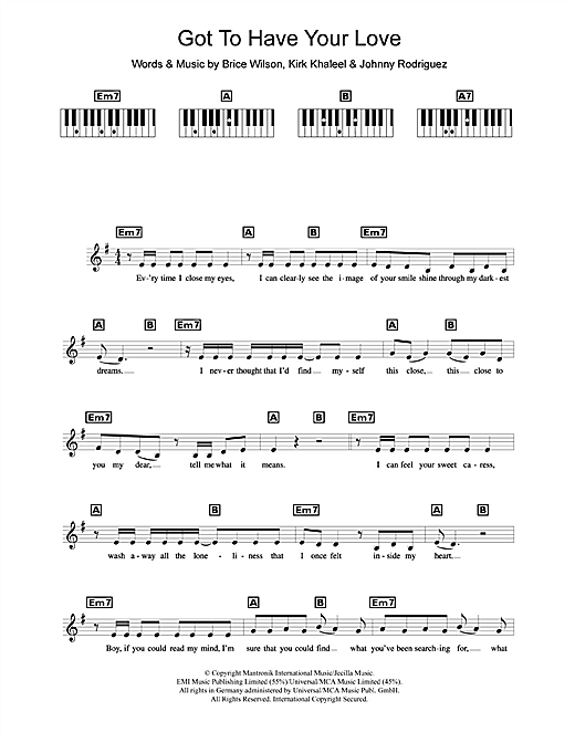 Got To Have Your Love Sheet Music