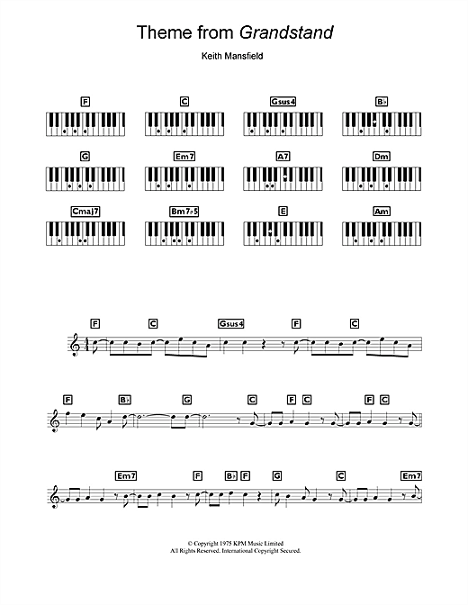 Theme from Grandstand Sheet Music