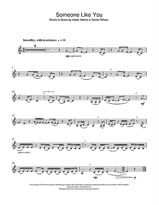 Piano piano chords for someone like you with letters : Someone Like You sheet music by Adele (Clarinet – 109219)