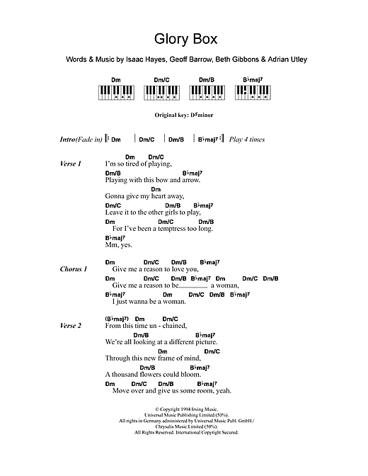 Glory Box Sheet Music