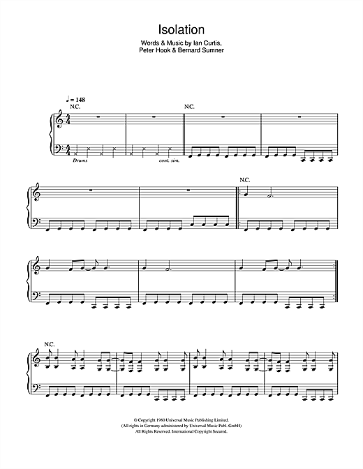 Isolation Sheet Music