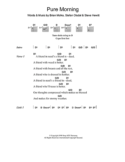 Pure Morning Sheet Music