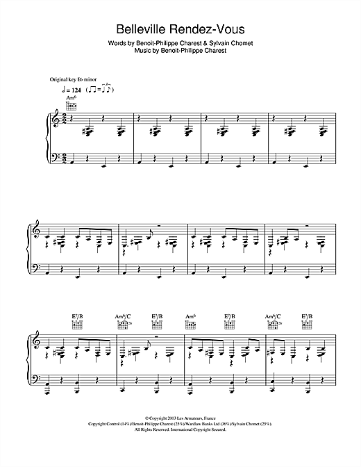 Belleville Rendez-Vous (from 'Belleville Rendez-vous') Sheet Music