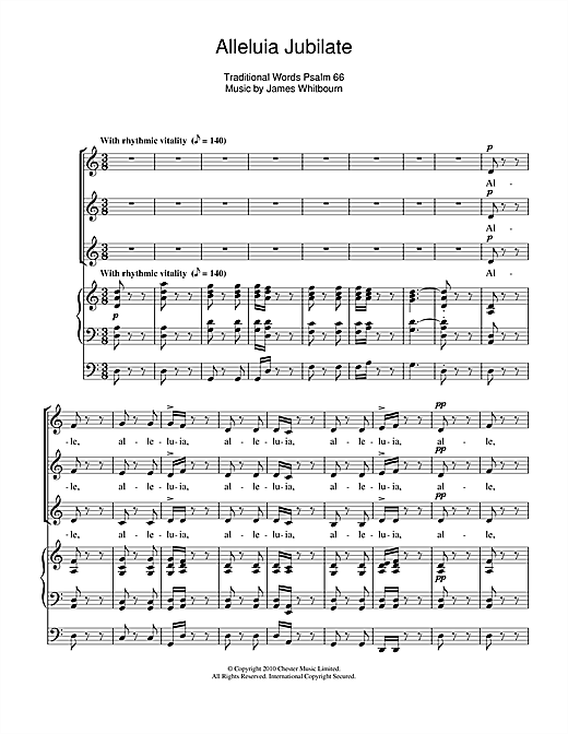 Alleluia Jubilate Sheet Music