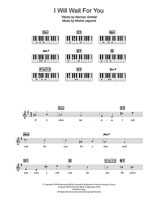 I Will Wait For You (Keyboard (Abridged))