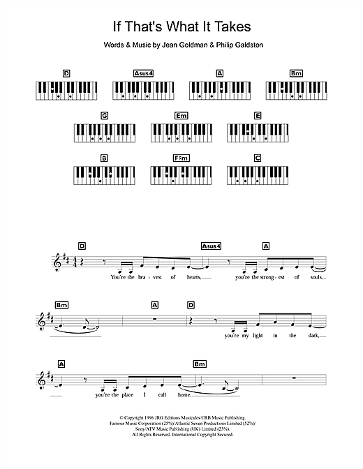 If That's What It Takes Sheet Music