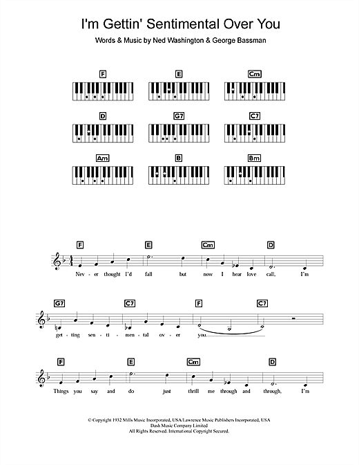 I'm Gettin' Sentimental Over You Sheet Music