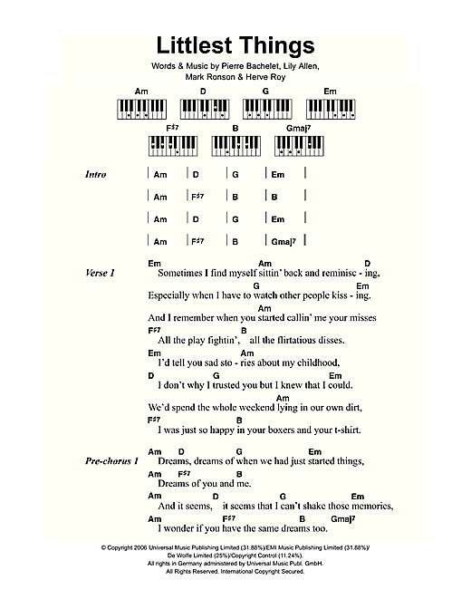 Littlest Things Sheet Music
