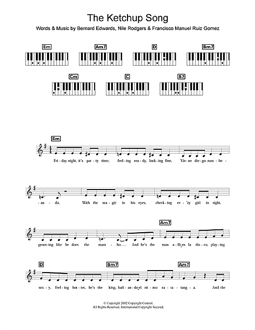The Ketchup Song (Asereje) Sheet Music