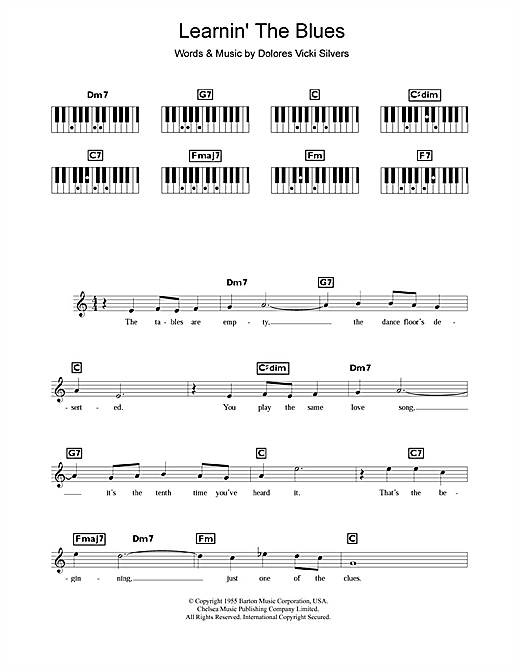 Learnin' The Blues Sheet Music