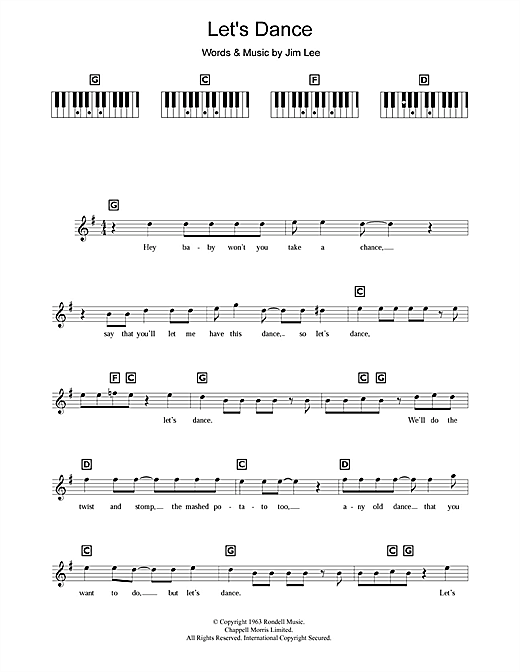 Let's Dance Sheet Music
