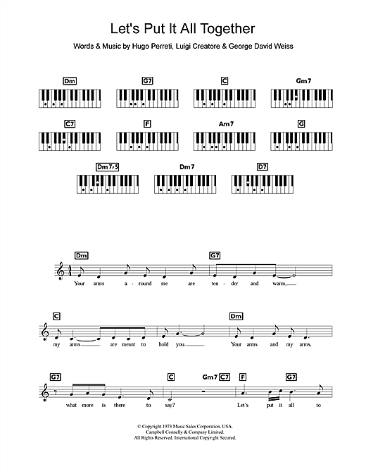 Let's Put It All Together Sheet Music