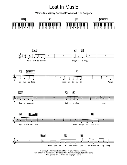 Lost In Music Sheet Music