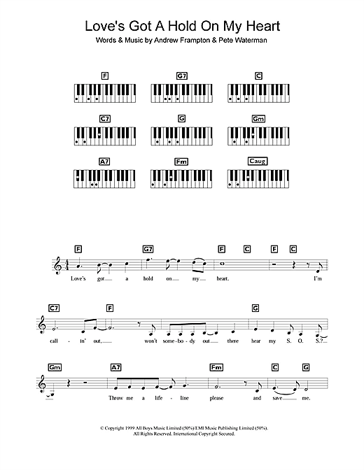 Love's Got A Hold On My Heart Sheet Music