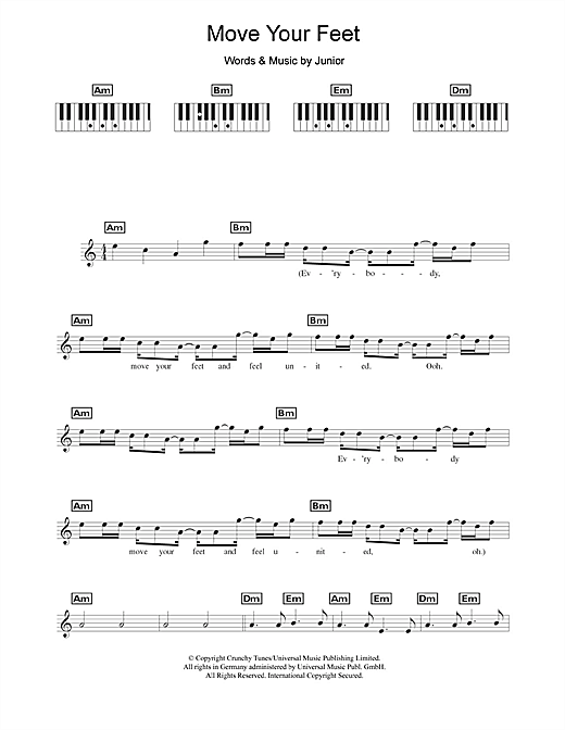Move Your Feet Sheet Music