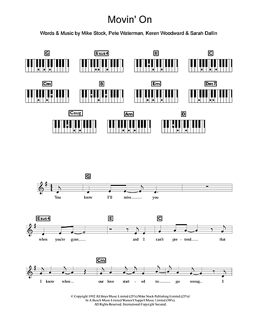 Movin' On Sheet Music