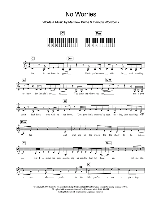 No Worries Sheet Music