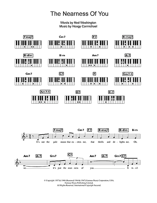 The Nearness Of You Sheet Music
