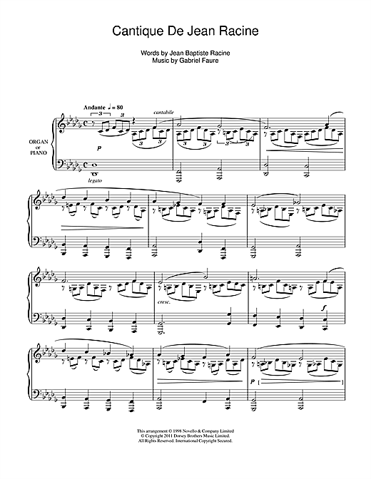 Cantique De Jean Racine (SATB Choir)