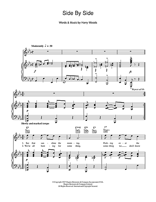 Side By Side Sheet Music