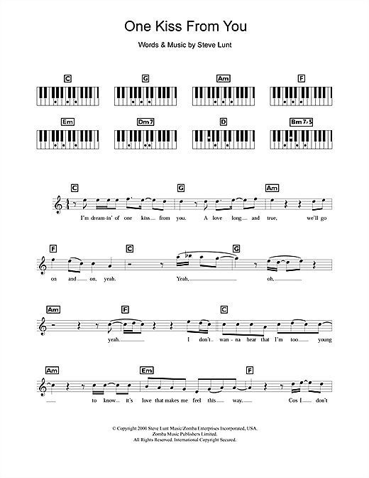 One Kiss From You Sheet Music