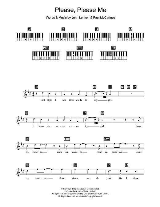 Please Please Me (Keyboard (Abridged))