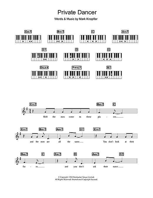Private Dancer Sheet Music