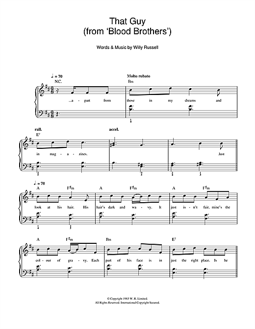 That Guy (from Blood Brothers) Sheet Music