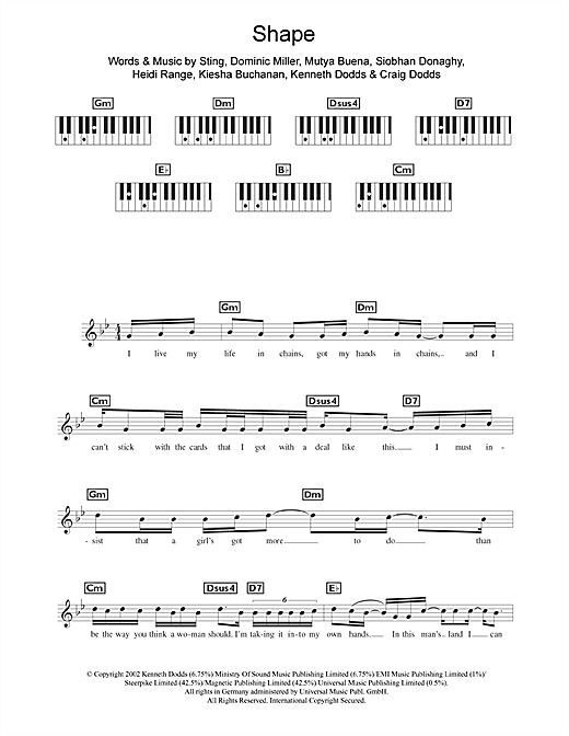 Shape Sheet Music