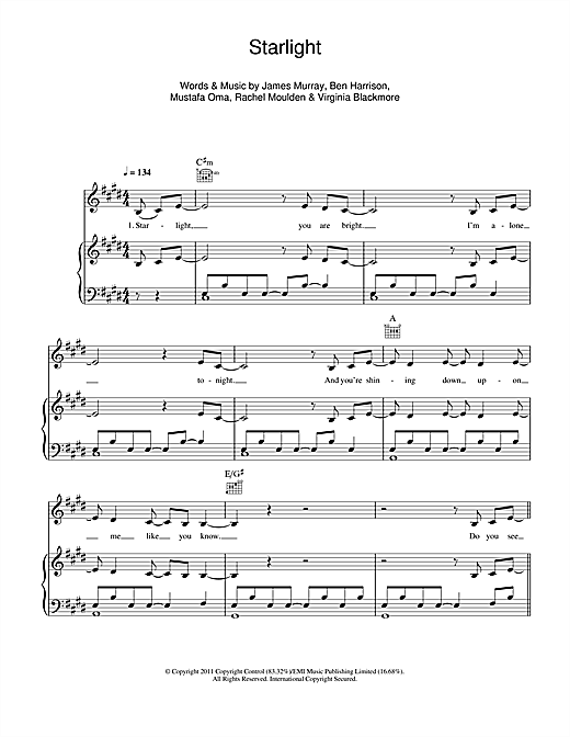 Starlight Sheet Music
