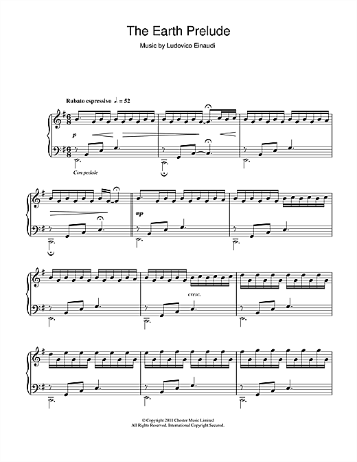 The Earth Prelude Sheet Music