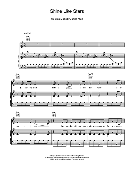 Shine Like Stars Sheet Music