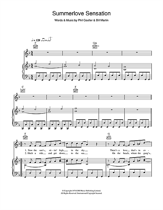 Summerlove Sensation Sheet Music