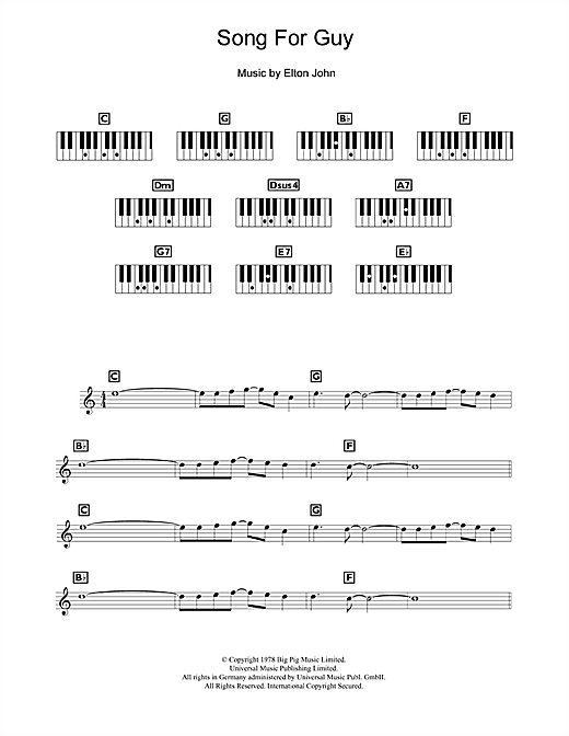 Song For Guy Sheet Music