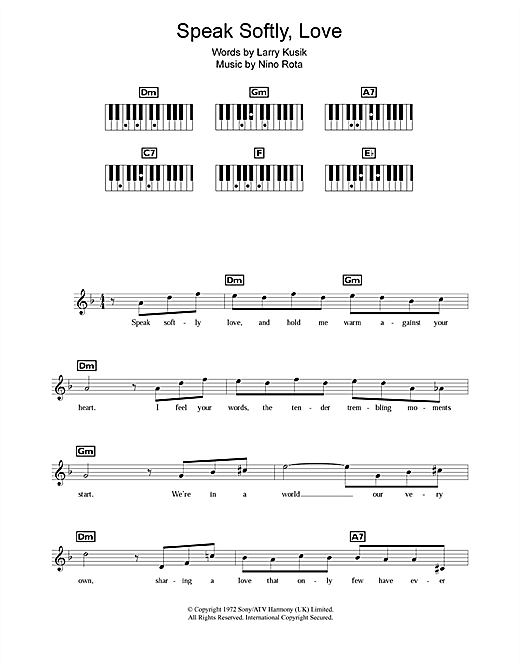 Speak Softly Love (Godfather Theme) Sheet Music