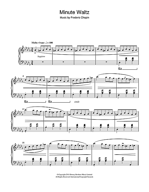 Minute Waltz in D flat major Op. 64 No. 1 Sheet Music