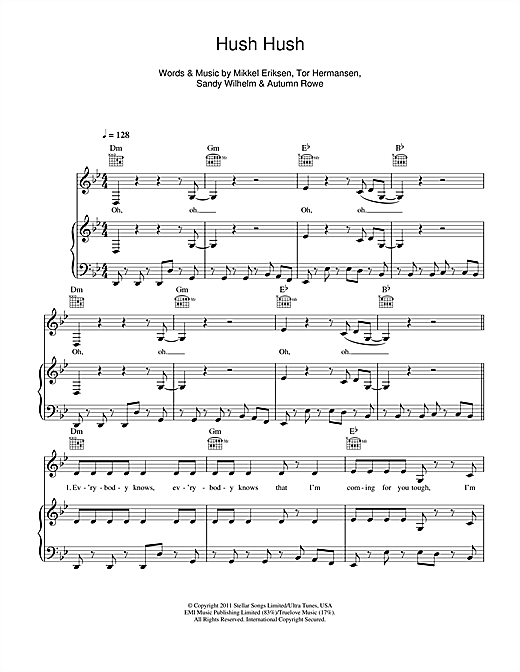Hush Hush Sheet Music