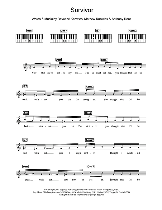 Survivor Sheet Music