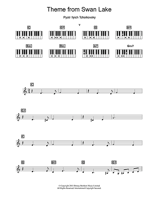 Theme from Swan Lake Sheet Music