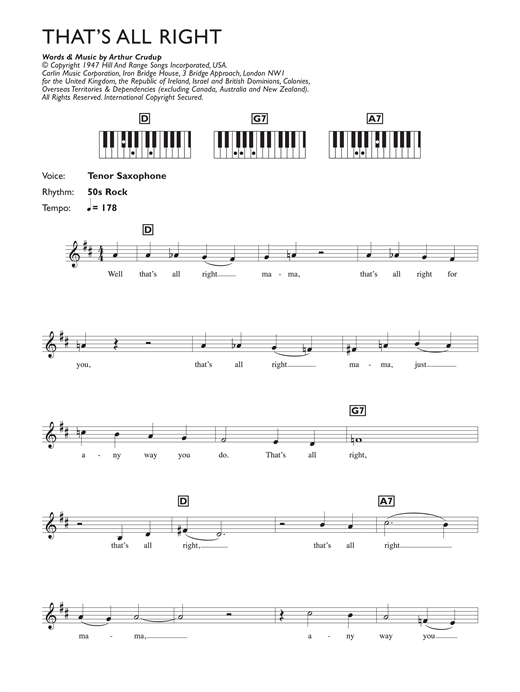 That's All Right Sheet Music