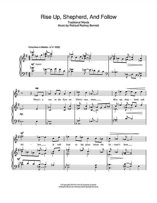 Rise Up, Shepherd, And Follow! Sheet Music