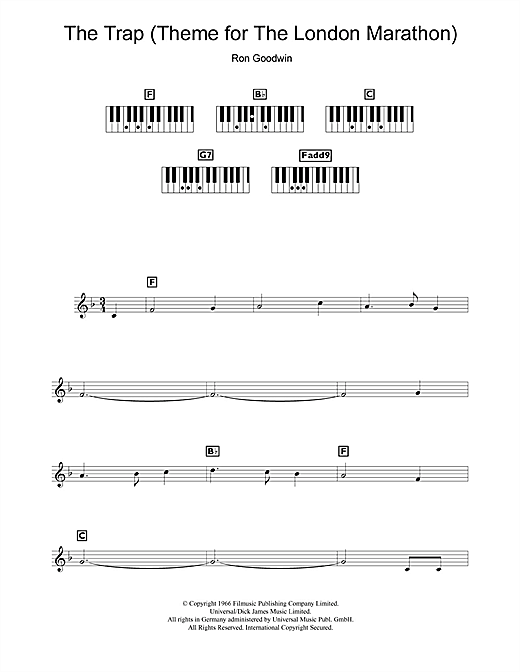The Trap (Theme for The London Marathon) Sheet Music