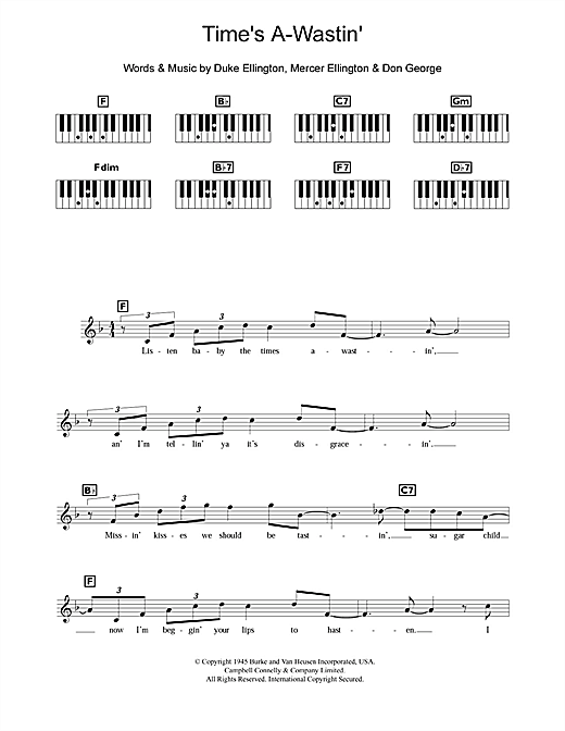 Time's A-Wastin' Sheet Music