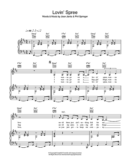 Lovin' Spree  Sheet Music