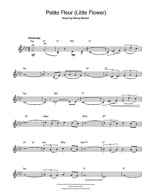 Petite Fleur (Little Flower) Sheet Music
