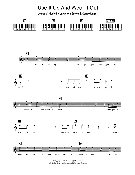 Use It Up And Wear It Out Sheet Music