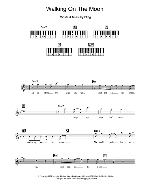 Walking On The Moon Sheet Music