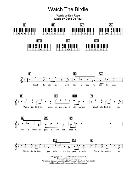 Watch The Birdie Sheet Music