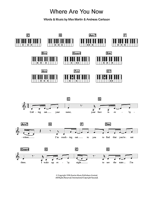 Where Are You Now Sheet Music